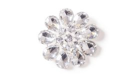 Image of a Acrylic Diamond Flower Brooch
