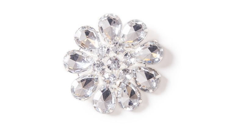 Picture of a Acrylic Diamond Flower Brooch
