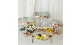 Image of a 3 Pc Rose Gold Desert Stands