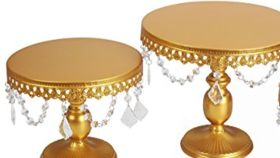 Image of a Gold Dessert Stand Set Of 2