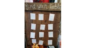 Image of a Find your table sign