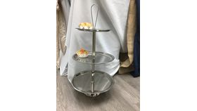 Image of a 3 Tier Nickel Dessert Stand