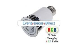 Image of a 5 Watt LED RGB - Color changing projection bulb with remote control