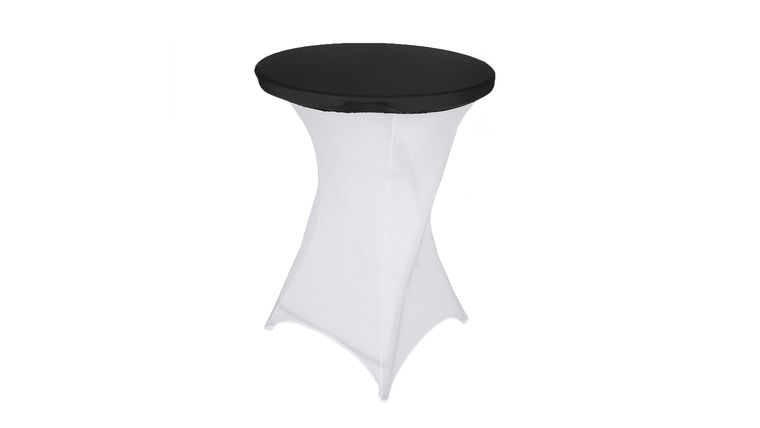 Picture of a Black Spandex Cocktail Table Top Stretch Cover
