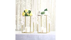 "Image of a 16"" Gold Flower Stands"