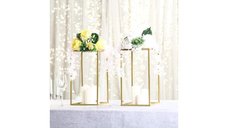 "Picture of a 16"" Gold Flower Stands"