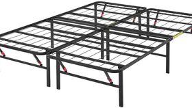 Image of a Metal Platform Bed, full