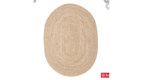Image of a Braided Jute Oval Rug // 6'x9'