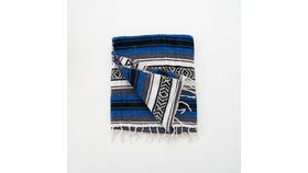 Image of a Blue Mexican Blankets