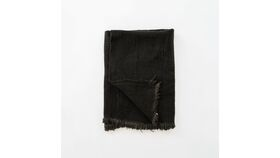 Image of a Black Mudcloth Blankets