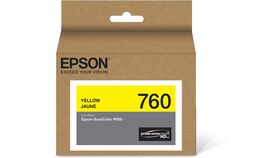 Image of a Epson T760 Yellow Ultrachrome HD Ink Cartridge