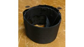 Image of a Black Crinkle Table Cuffs