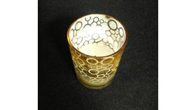 "Image of a 3"" x 2"" Gold-Circles Cylinder Votive Holder"