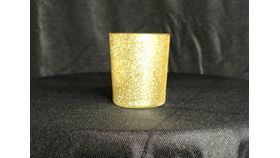 "Image of a 2"" x 2.5"" Gold Glitter Cylinder Votive"