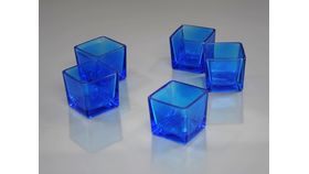 "Image of a 2"" x 2"" Blue Square Votive Holder"