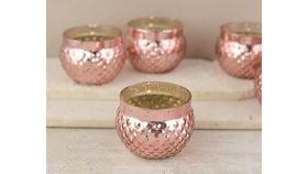"Image of a 2.75"" x 2"" Rose Gold Bubble Votive Holder"