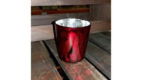 "Image of a 2.75"" x 2.8"" Red Luxe Votive Holder"