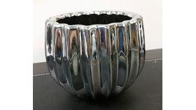 "Image of a 6"" x 5"" Silver Prisma Vase"