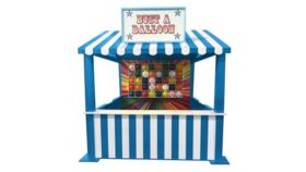 Image of a Balloon Pop Carnival Game - Blue Booth