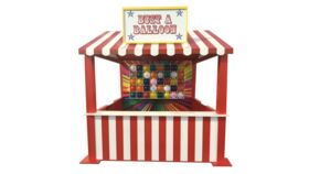 Image of a Balloon Pop Carnival Game - Red Booth