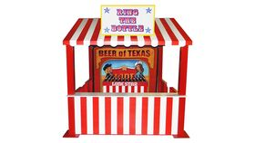 Image of a Beer Bottle Ring Toss Carnival Game - Red Booth