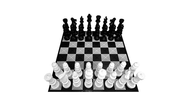 Picture of a Giant Texas-Sized Chess and Checker Set