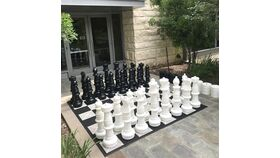 Giant Texas-Sized Chess and Checker Set image