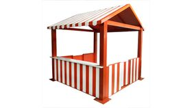 Image of a Carnival Booth - Red