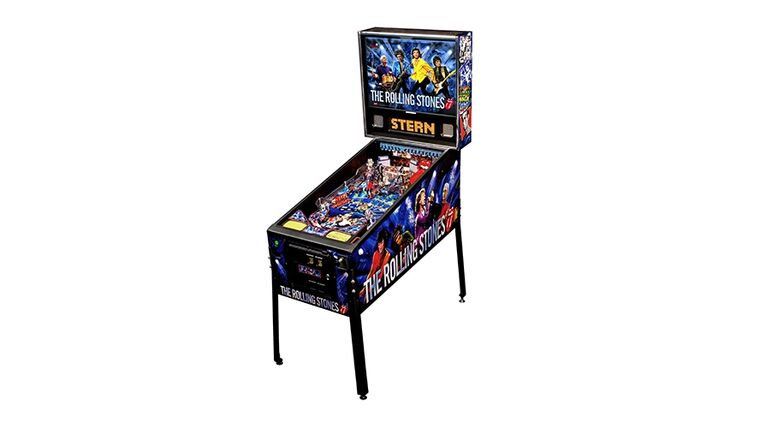 Picture of a Rolling Stones Pinball Machine