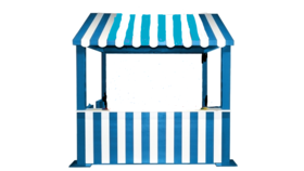 Image of a Carnival Booth - Blue