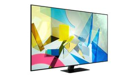 "Image of a Samsung 75"" QLED LCD TV"