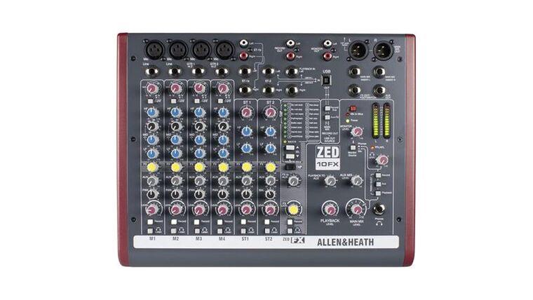 Picture of a Allen & Heath ZED 10FX Mixer