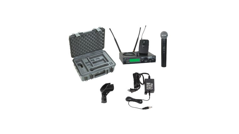 Picture of a *Shure ULX Mic Handheld + Body Back Lavalier Combo