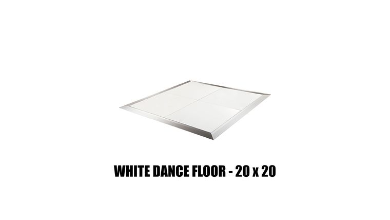 *White Dance Floor - 20x20 : goodshuffle.com