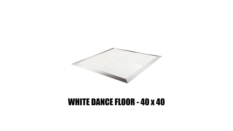Picture of a *White Dance Floor - 40x40