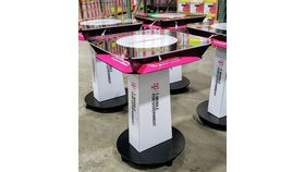 Image of a Branded Charging Table