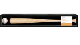 Image of a Baseball Bat Shadow Box, with Louisville Slugger Bat + Ball