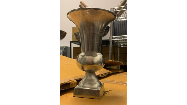 """Picture of a Aluminum Nickle Urn 8.25"""""""