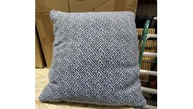 Image of a Blue and White Decorative Pillow
