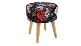 Image of a Emmy Floral Ottoman