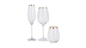 Image of a Gold Rim Glassware Trio