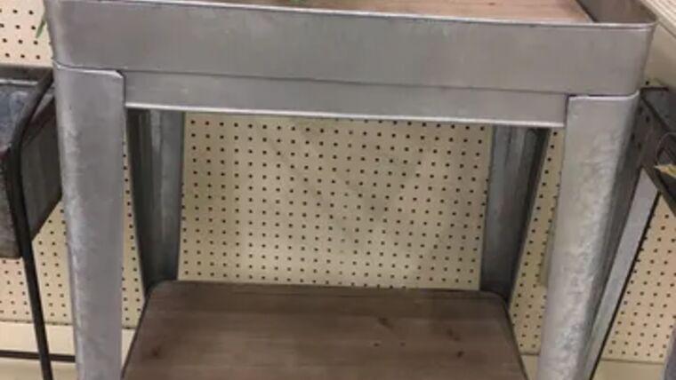 Picture of a tin bar cart