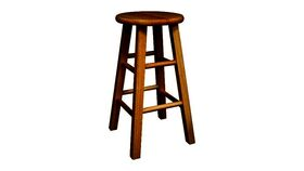 Image of a Backless Barstool, Mahogany