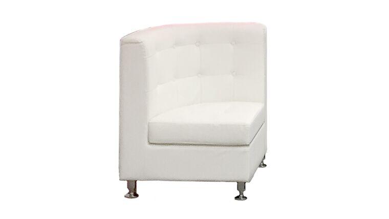 Picture of a White Leather Corner