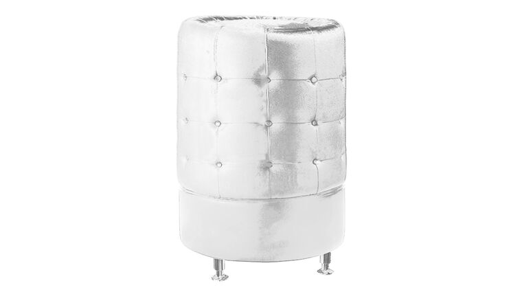 Picture of a White Leather Round Tower
