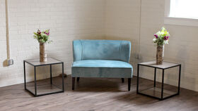 Image of a Blue Settee