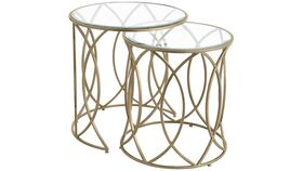 Image of a Bronze Nesting Accent Table