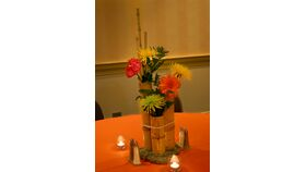 Image of a 3 Tier Bamboo Cluster Centerpiece