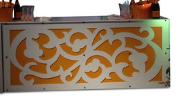Image of a Bar Facade-White Swirl