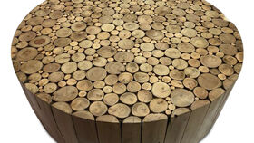 Image of a Coffee Table-Wood Trunk